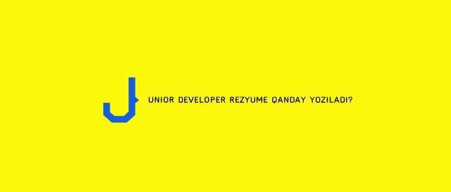 Dasturchi Resume/CV yozishda nimalarga e'tibor berish kerak va ishga kirishga yordam beradigan Rezyumeni qanday yozamiz?