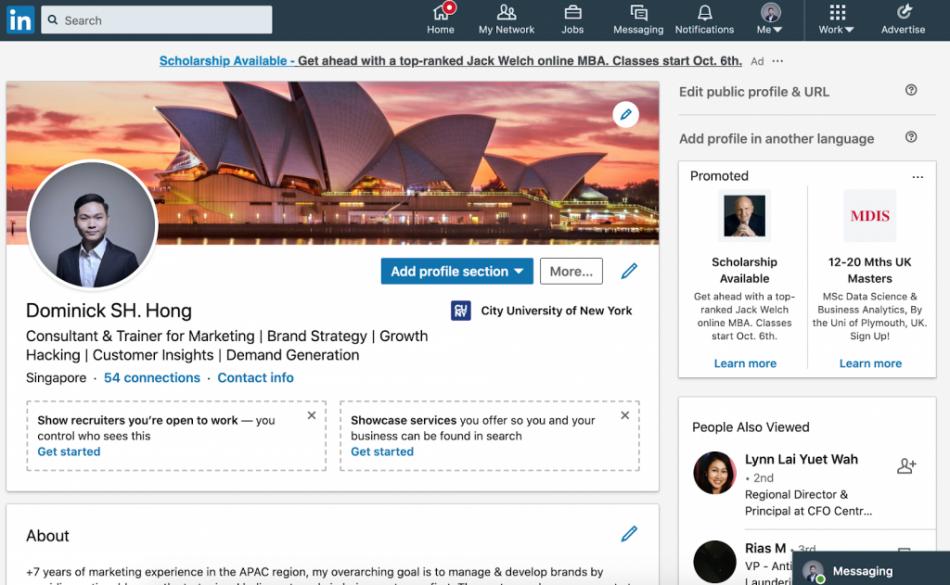 Linkedinda profilingizni to'g'ri to'ldiring