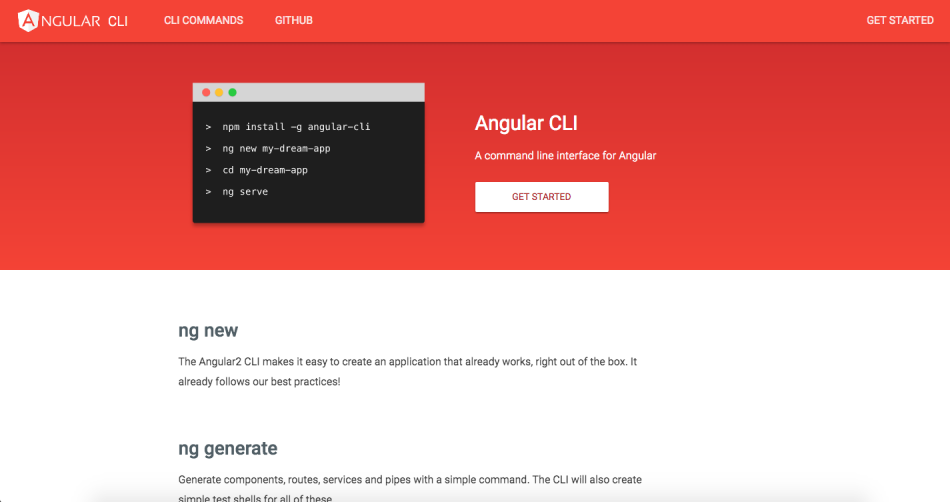 Angular2 quick start uchun Angular CLI