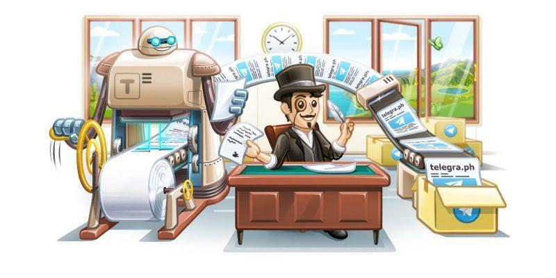 Telegramda Telegraph servisining rasmiy boti paydo bo'ldi
