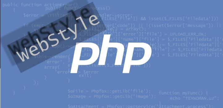 PHP-developer. Dasturlash haqida #1