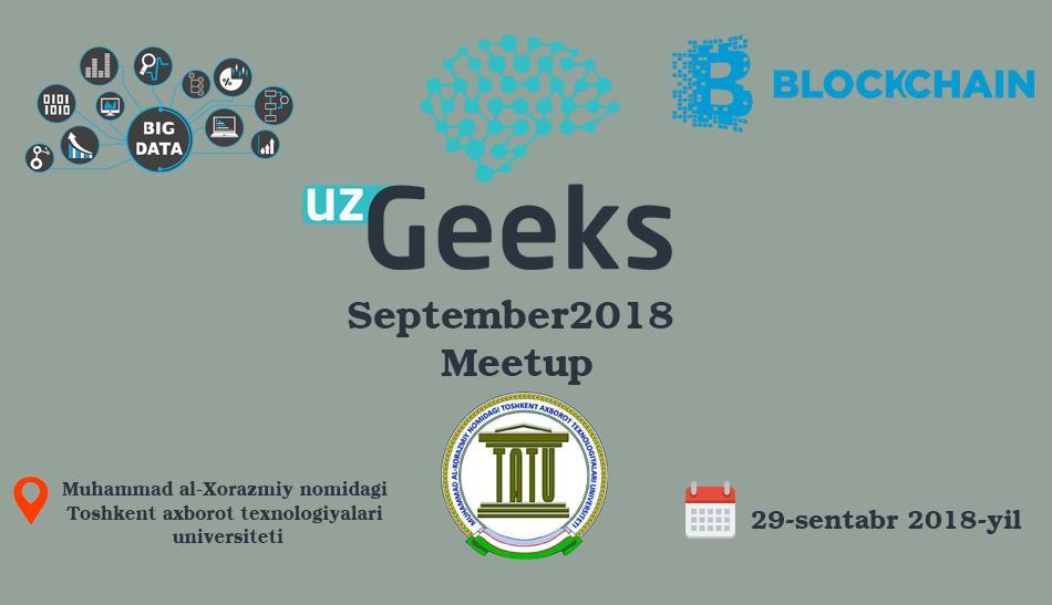 UzGeeks September2018 Meetup