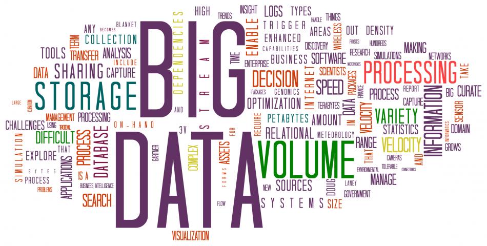 Big Data'ning asosiy 8 atamasi.