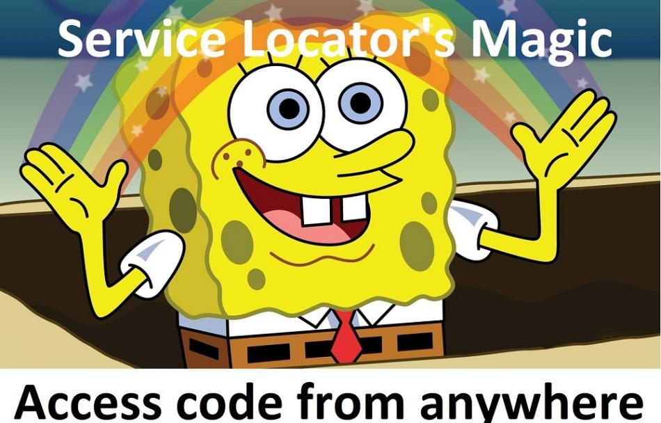 Yii2 service locator